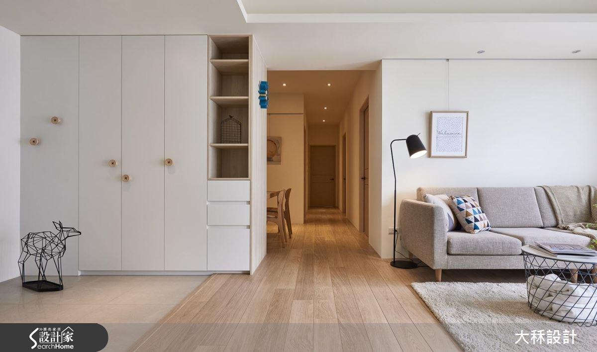 35坪新成屋(5年以下)_北歐風玄關客廳走廊案例圖片_大秝空間設計/建築規劃_大秝_21之4