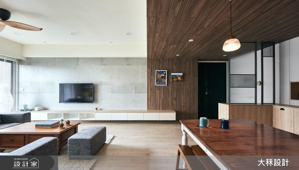 38坪新成屋(5年以下)_美式風玄關客廳案例圖片_大秝空間設計/建築規劃_大秝_24之3