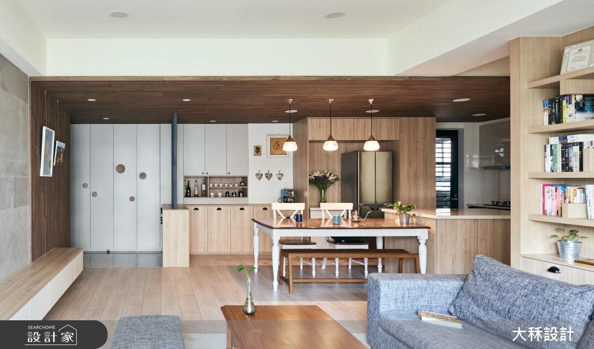 38坪新成屋(5年以下)_美式風客廳餐廳廚房案例圖片_大秝空間設計/建築規劃_大秝_24之2