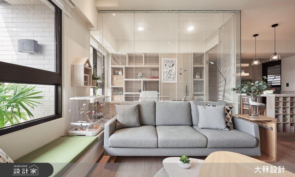 25坪新成屋(5年以下)_北歐風客廳書房案例圖片_大秝空間設計/建築規劃_大秝_25之2