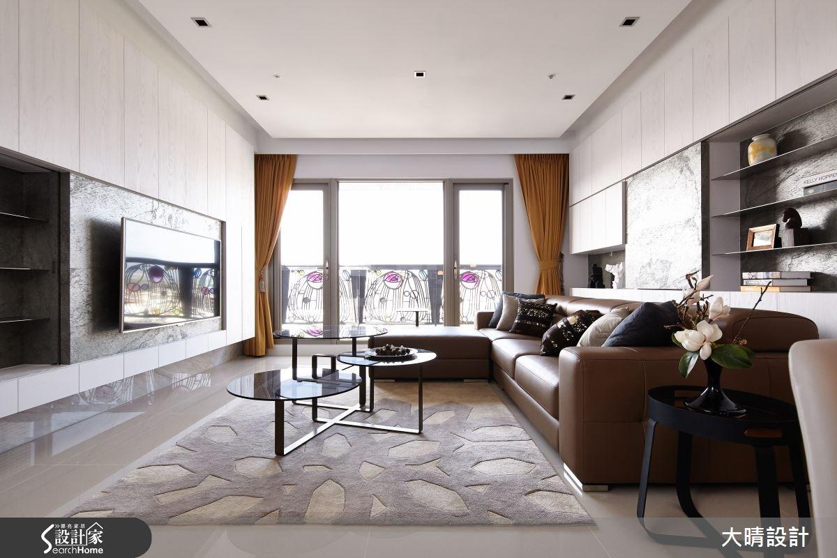 35坪新成屋(5年以下)_現代風客廳案例圖片_大晴設計有限公司_大晴_17之1