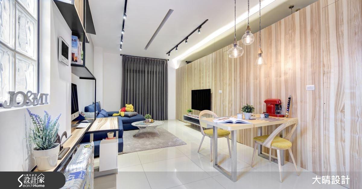 25坪新成屋(5年以下)_現代風客廳案例圖片_大晴設計有限公司_大晴_24之3