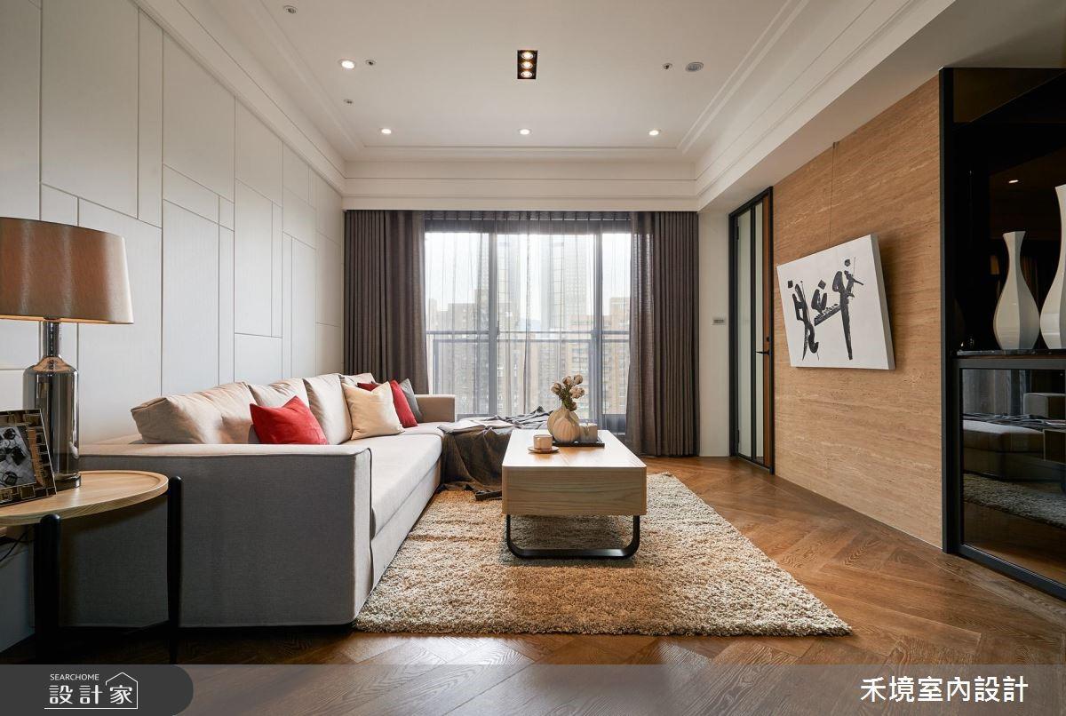 40坪新成屋(5年以下)_人文禪風客廳案例圖片_禾境室內設計_禾境_11之2
