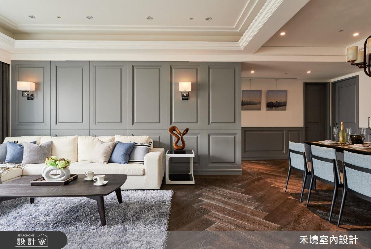 50坪新成屋(5年以下)_新古典客廳案例圖片_禾境室內設計_禾境_12之2