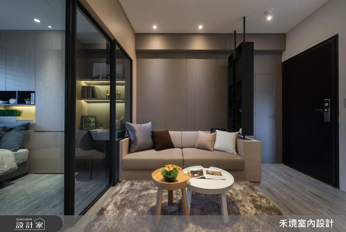 17坪新成屋(5年以下)_簡約風客廳案例圖片_禾境室內設計_禾境_14之4