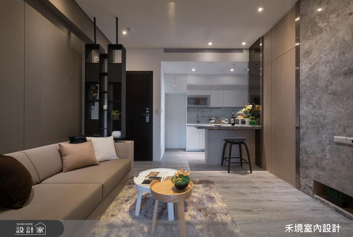 17坪新成屋(5年以下)_簡約風客廳案例圖片_禾境室內設計_禾境_14之3