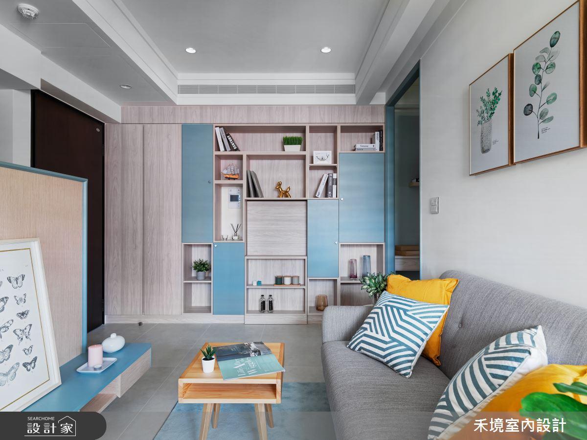 14坪新成屋(5年以下)_混搭風客廳案例圖片_禾境室內設計_禾境_19之2