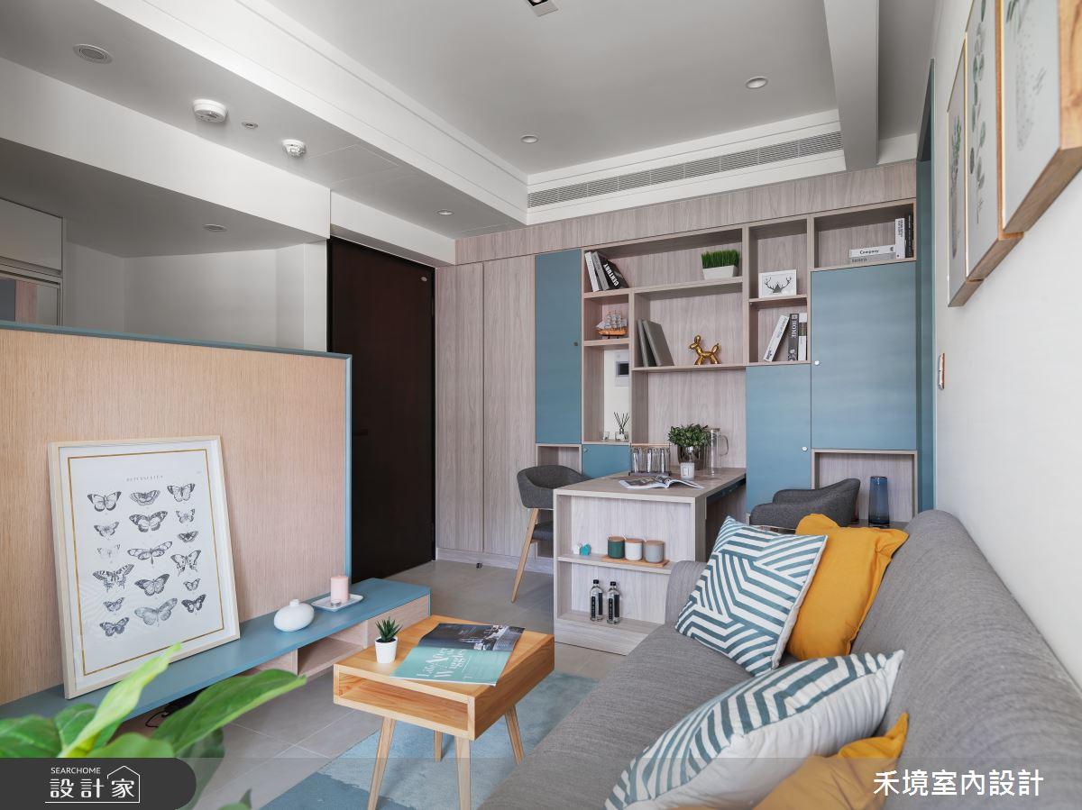 14坪新成屋(5年以下)_混搭風客廳案例圖片_禾境室內設計_禾境_19之1