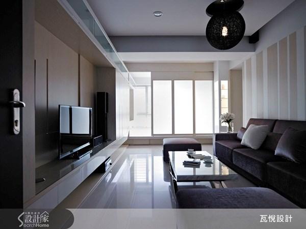 35坪新成屋(5年以下)_休閒風客廳臥榻案例圖片_瓦悅設計_瓦悅_05之3