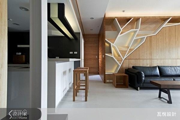 25坪新成屋(5年以下)_休閒風客廳廚房吧檯案例圖片_瓦悅設計_瓦悅_09之2