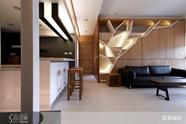 25坪新成屋(5年以下)_休閒風客廳廚房吧檯案例圖片_瓦悅設計_瓦悅_09之1
