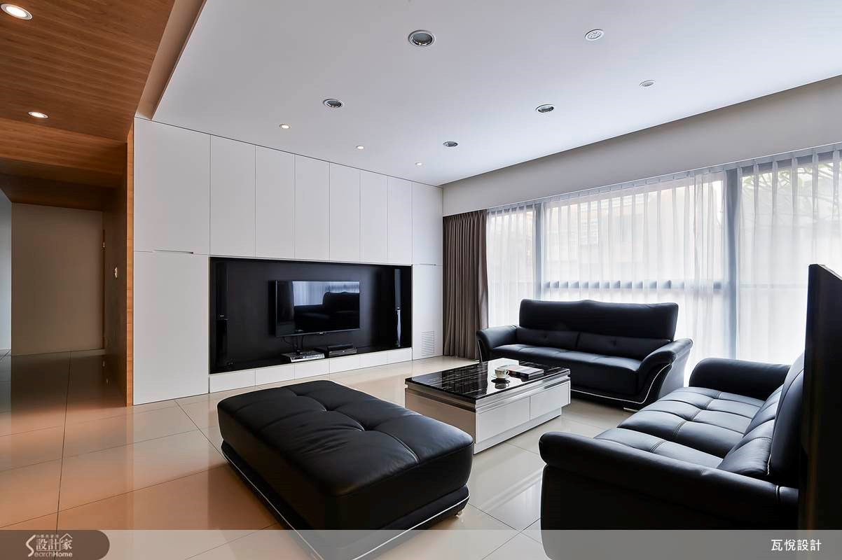 60坪新成屋(5年以下)_混搭風客廳案例圖片_瓦悅設計_瓦悅_14之3
