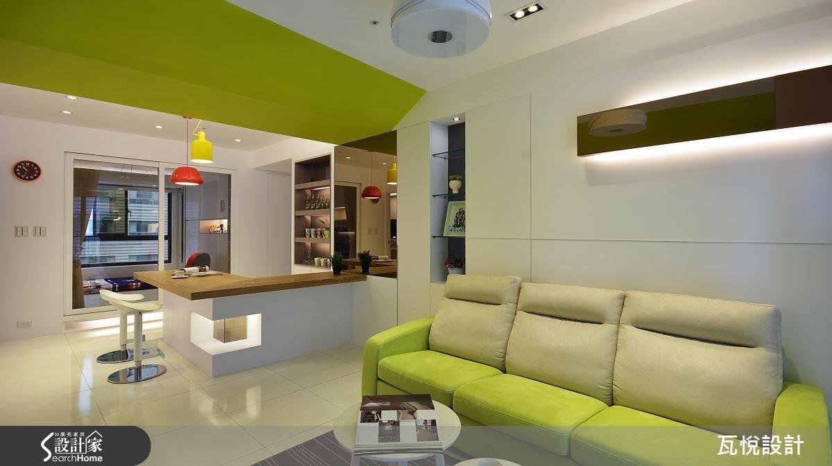 23坪中古屋(5~15年)_現代風客廳吧檯案例圖片_瓦悅設計_瓦悅_30之1