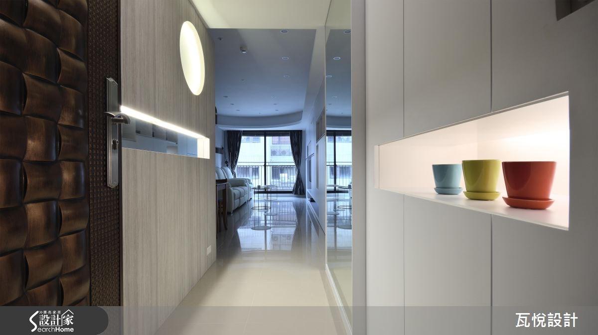 25坪新成屋(5年以下)_混搭風玄關案例圖片_瓦悅設計_瓦悅_32之1