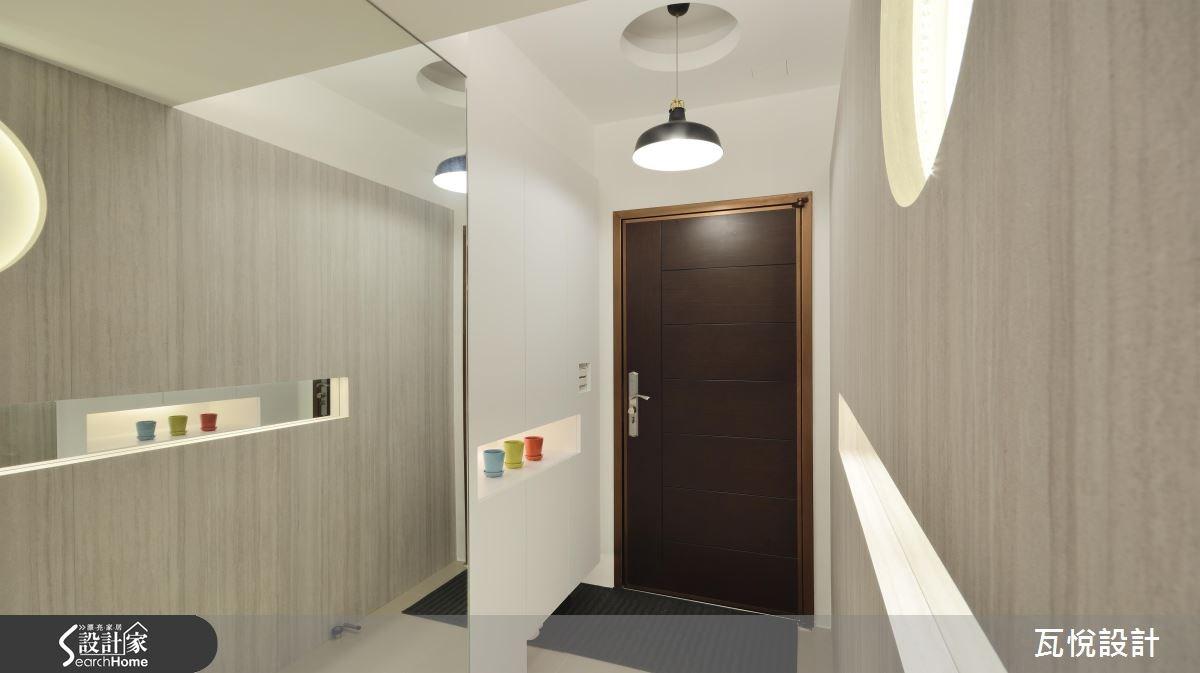 25坪新成屋(5年以下)_混搭風玄關案例圖片_瓦悅設計_瓦悅_32之2