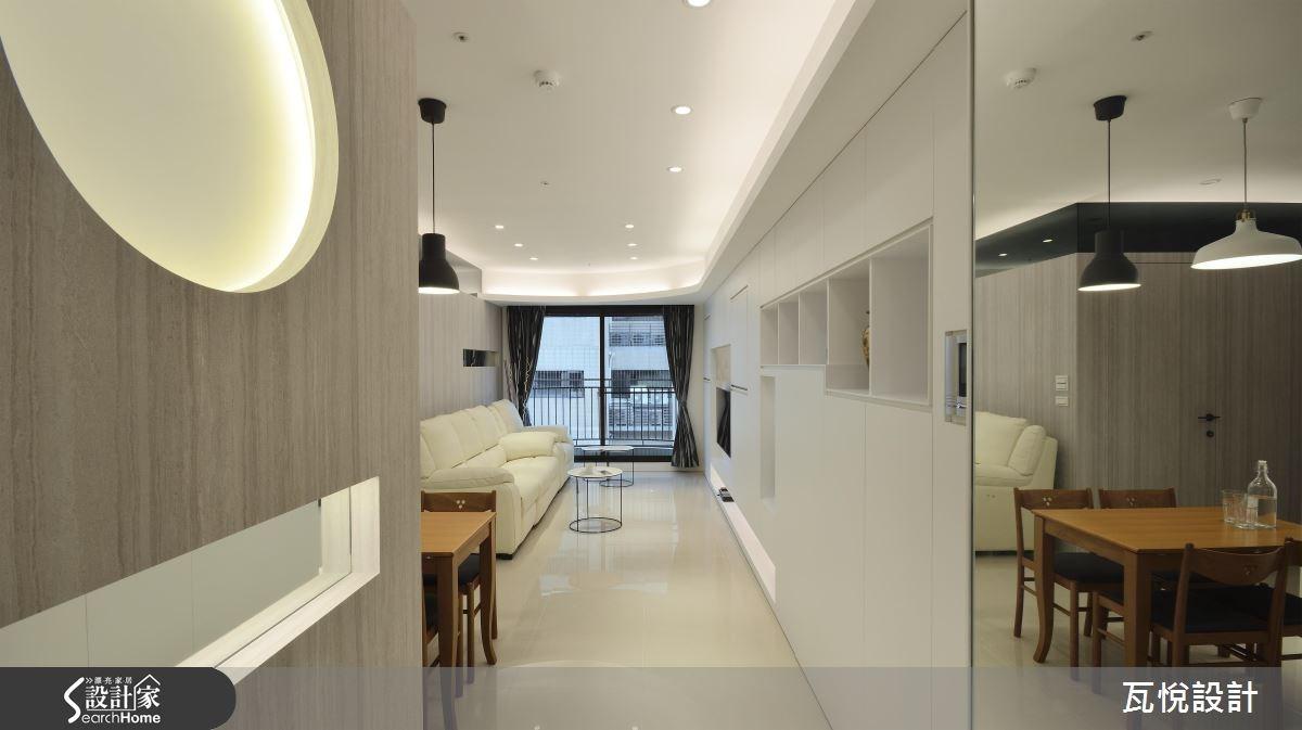 25坪新成屋(5年以下)_混搭風玄關客廳案例圖片_瓦悅設計_瓦悅_32之4