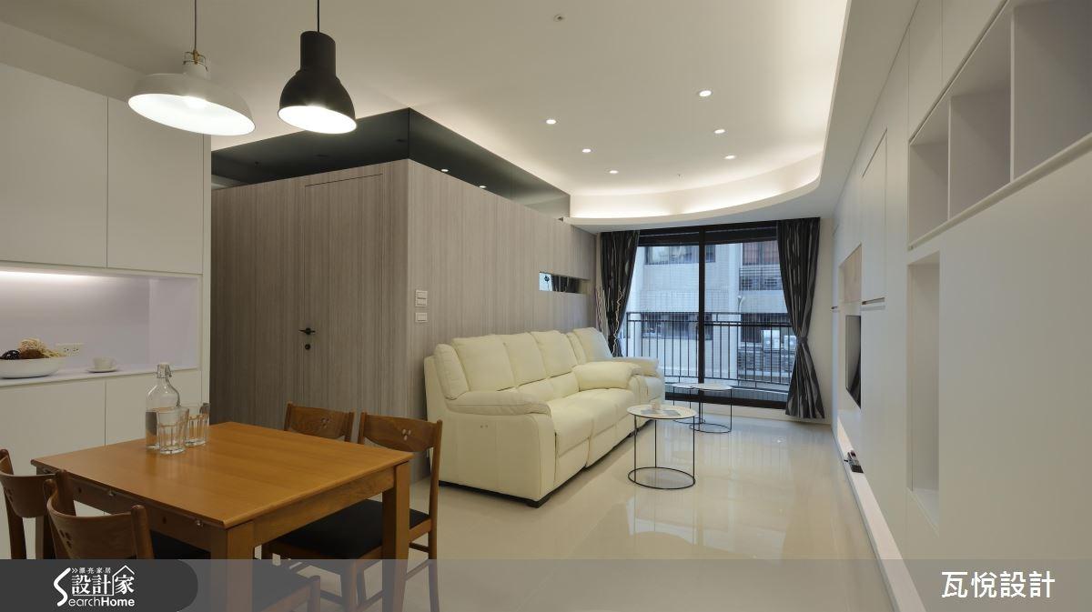 25坪新成屋(5年以下)_混搭風客廳餐廳案例圖片_瓦悅設計_瓦悅_32之5