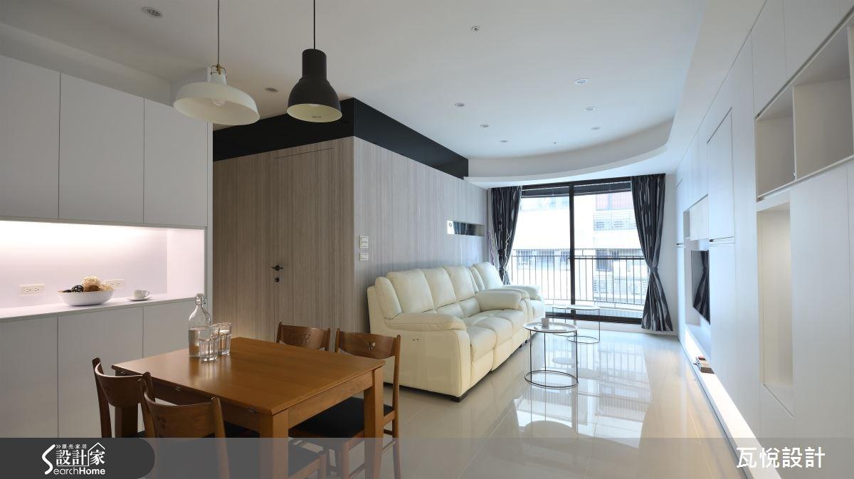 25坪新成屋(5年以下)_混搭風客廳餐廳案例圖片_瓦悅設計_瓦悅_32之6
