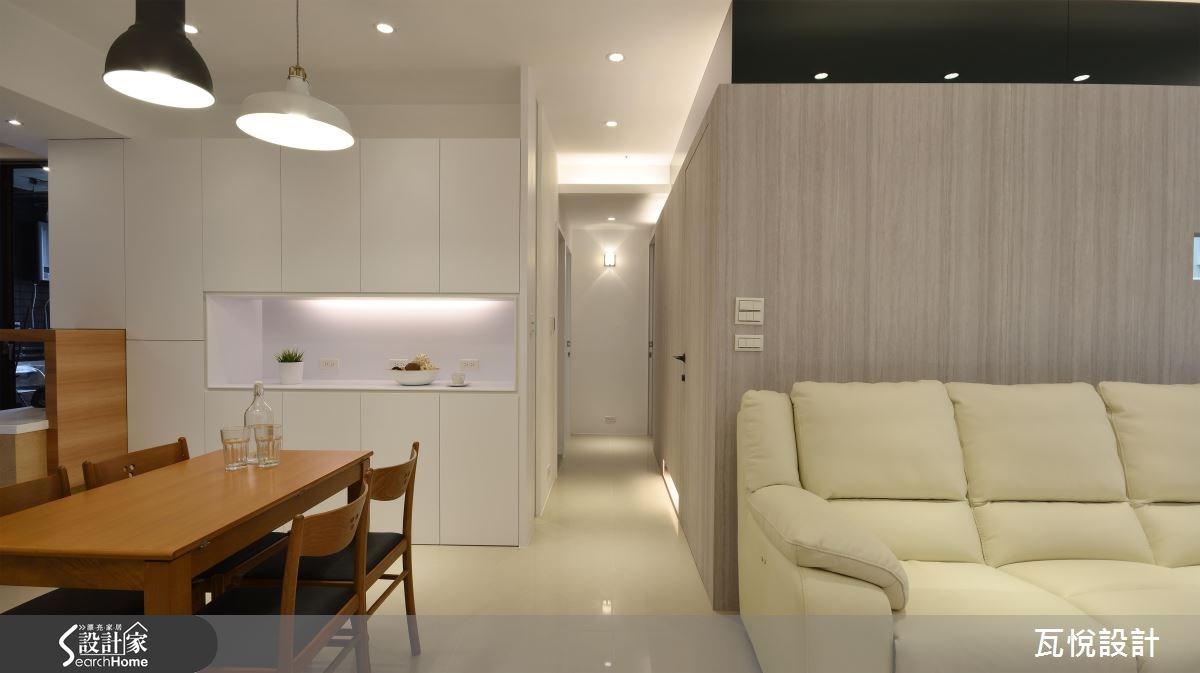 25坪新成屋(5年以下)_混搭風客廳餐廳走廊案例圖片_瓦悅設計_瓦悅_32之7