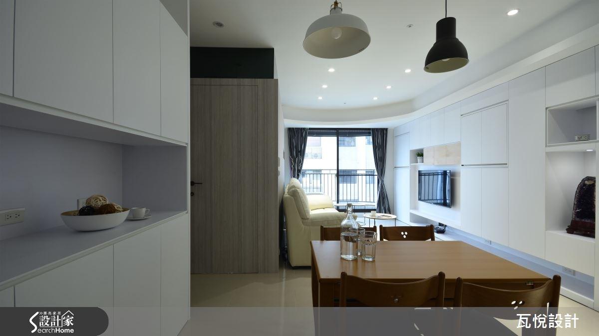 25坪新成屋(5年以下)_混搭風客廳餐廳案例圖片_瓦悅設計_瓦悅_32之9