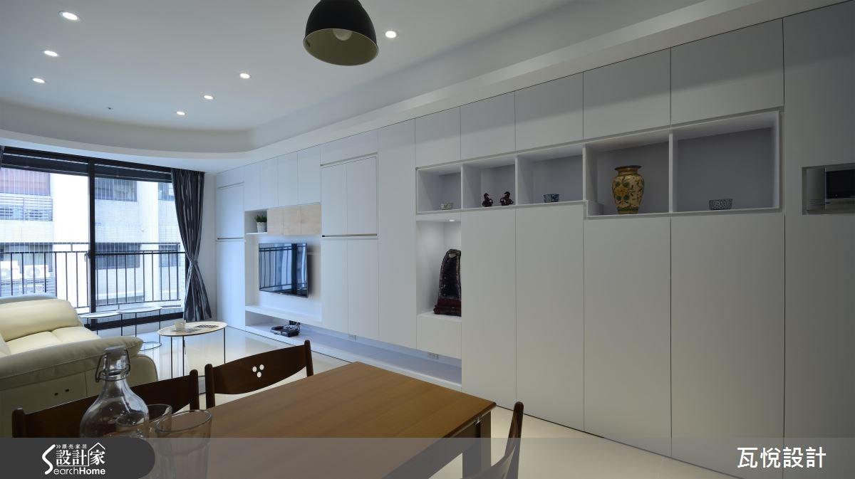 25坪新成屋(5年以下)_混搭風客廳餐廳案例圖片_瓦悅設計_瓦悅_32之10