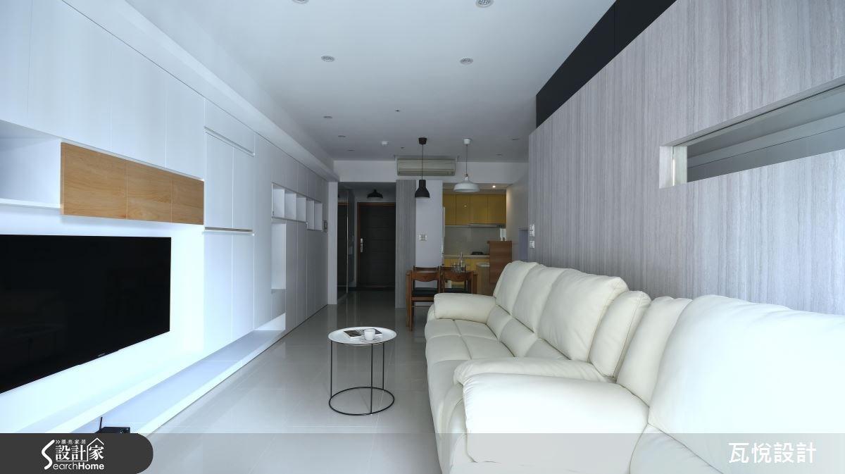 25坪新成屋(5年以下)_混搭風玄關客廳餐廳廚房案例圖片_瓦悅設計_瓦悅_32之14