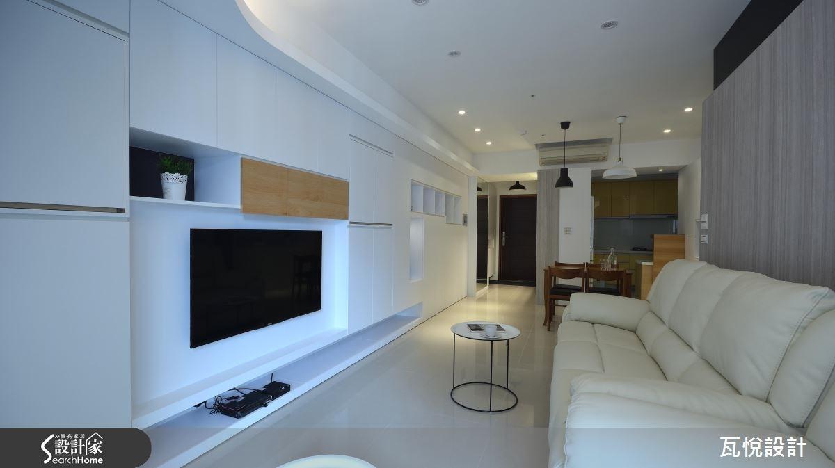 25坪新成屋(5年以下)_混搭風玄關客廳餐廳廚房案例圖片_瓦悅設計_瓦悅_32之15