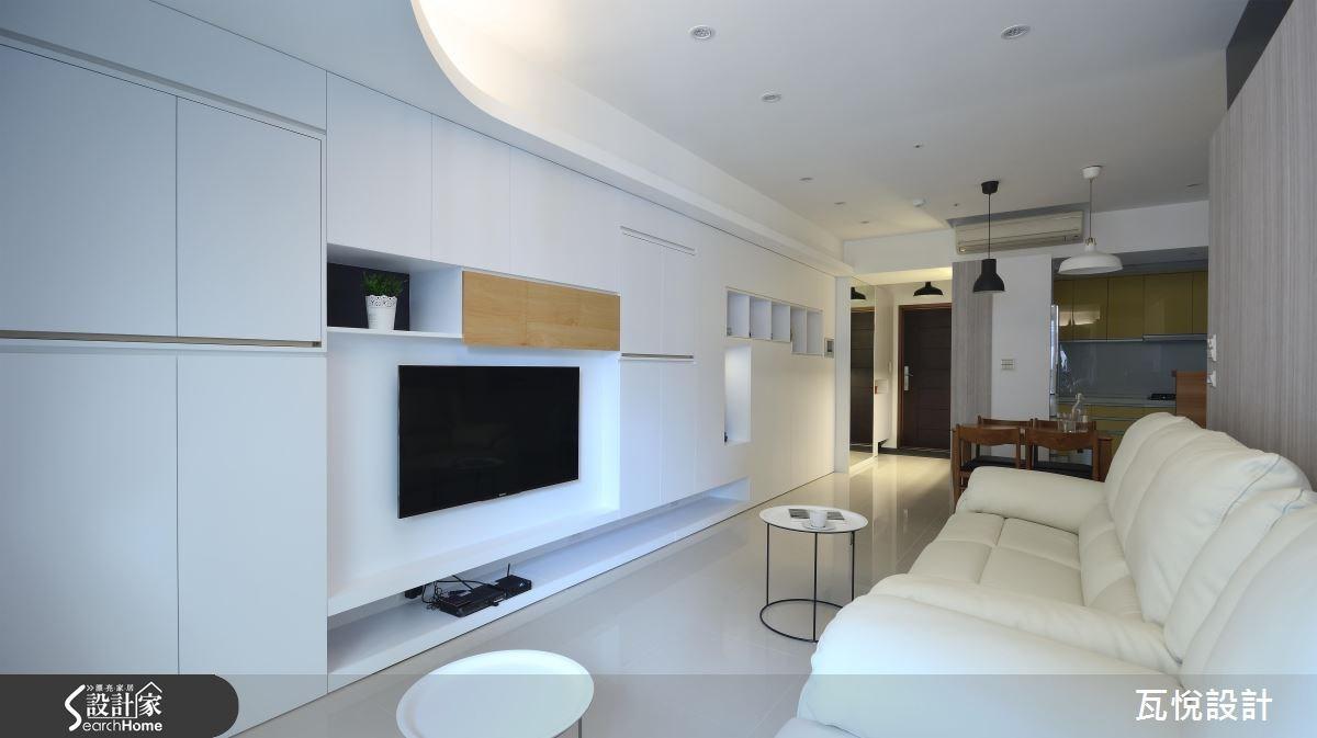 25坪新成屋(5年以下)_混搭風客廳案例圖片_瓦悅設計_瓦悅_32之16