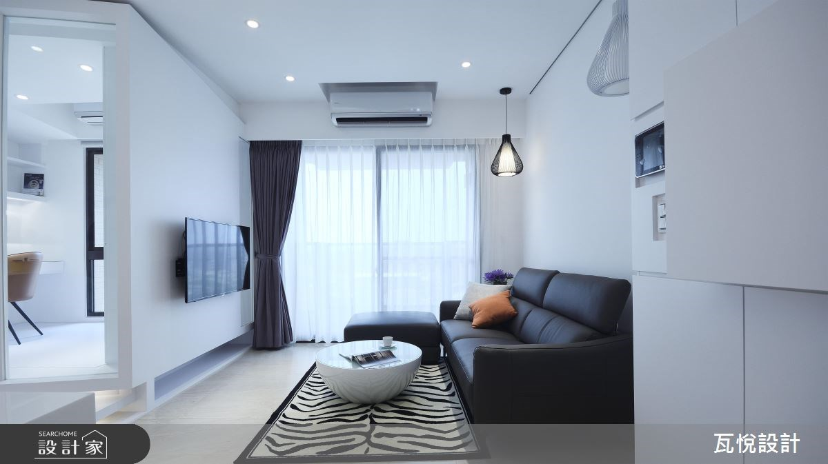 20坪新成屋(5年以下)_現代風客廳案例圖片_瓦悅設計_瓦悅_34之2