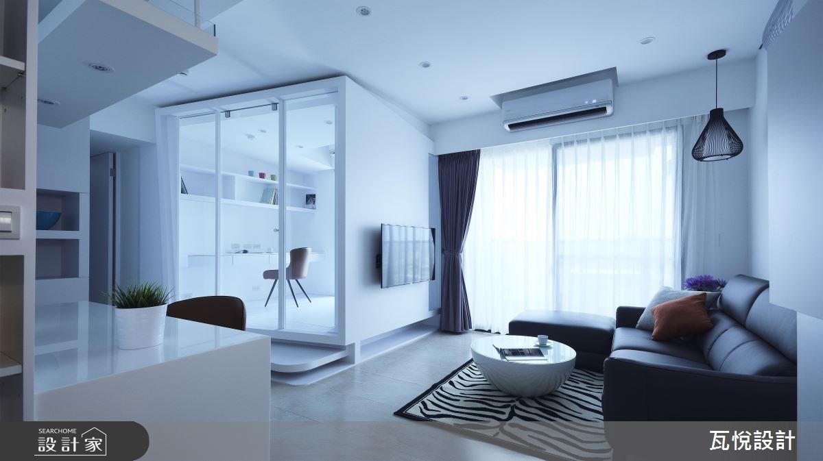 20坪新成屋(5年以下)_現代風客廳書房案例圖片_瓦悅設計_瓦悅_34之3