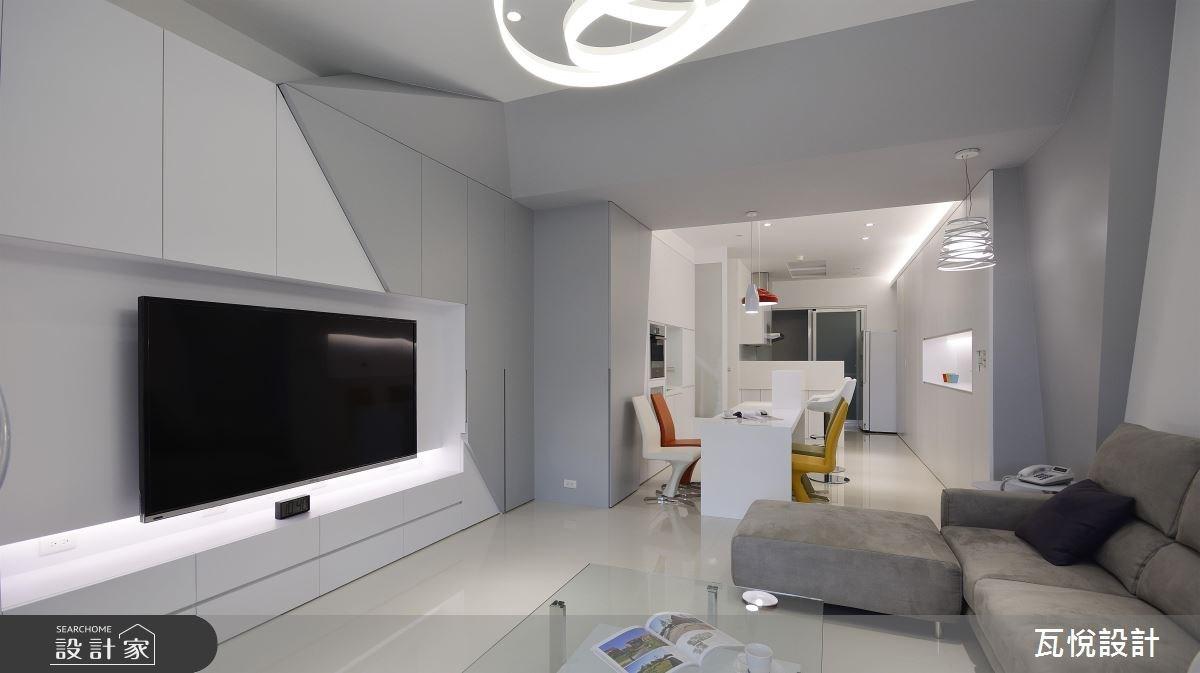 60坪中古屋(5~15年)_現代風客廳餐廳廚房案例圖片_瓦悅設計_瓦悅_37之2
