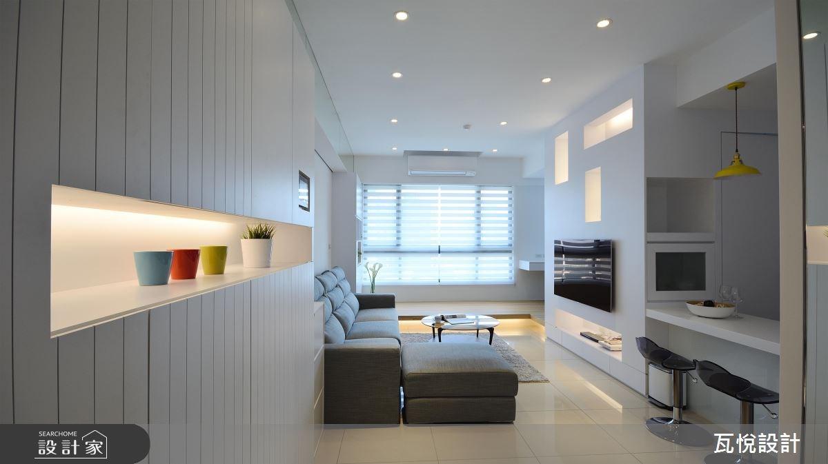 22坪新成屋(5年以下)_現代風玄關客廳吧檯臥榻案例圖片_瓦悅設計_瓦悅_39之3