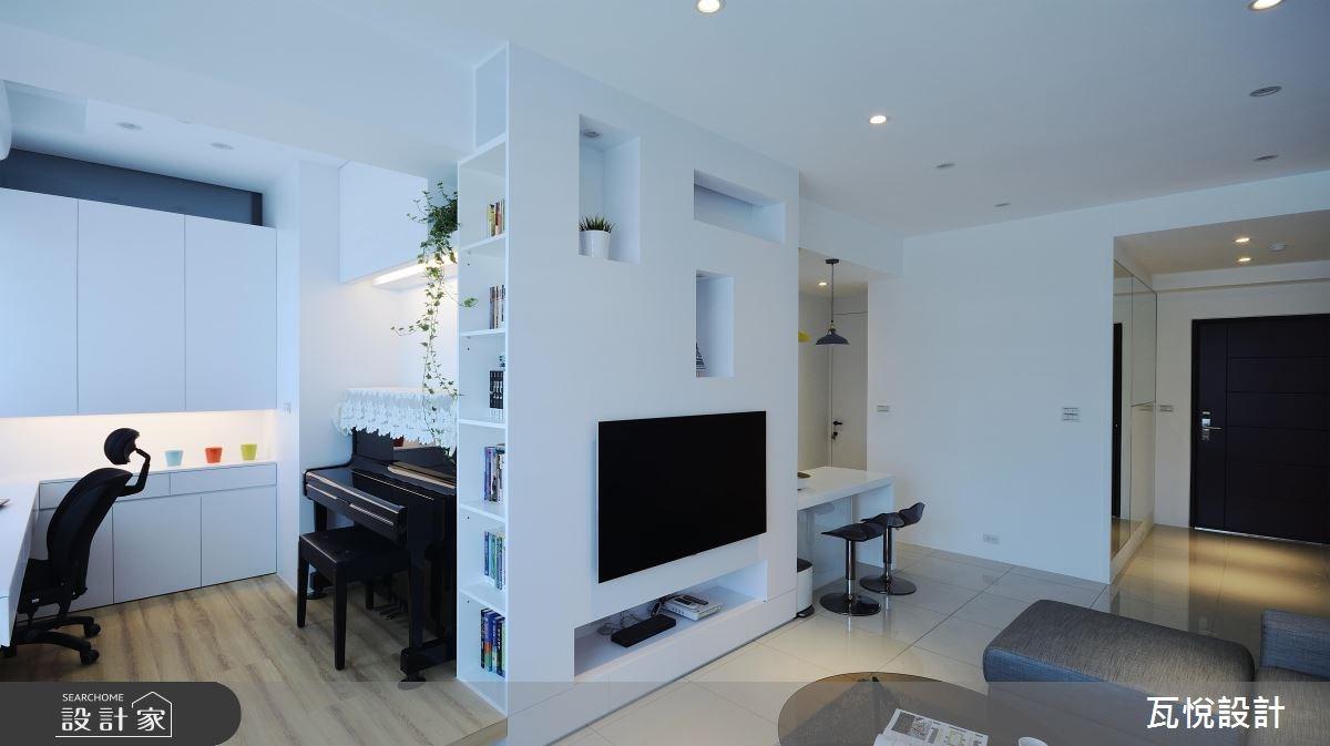 22坪新成屋(5年以下)_現代風客廳書房案例圖片_瓦悅設計_瓦悅_39之12