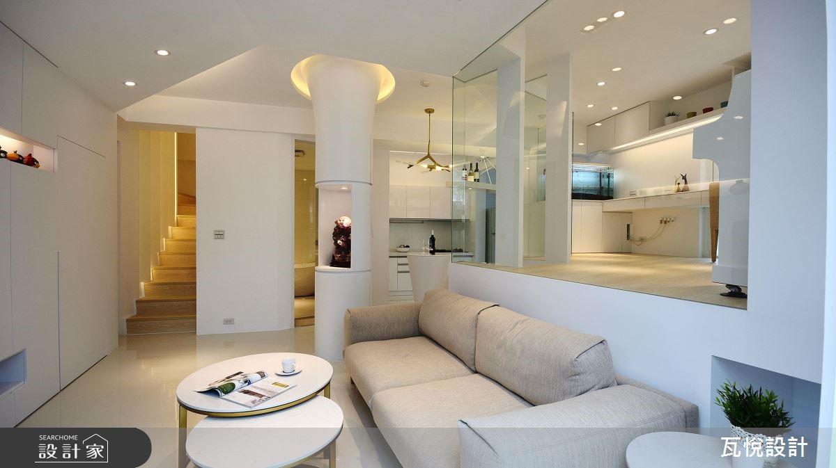 34坪老屋(16~30年)_現代風客廳樓梯案例圖片_瓦悅設計_瓦悅_45之3