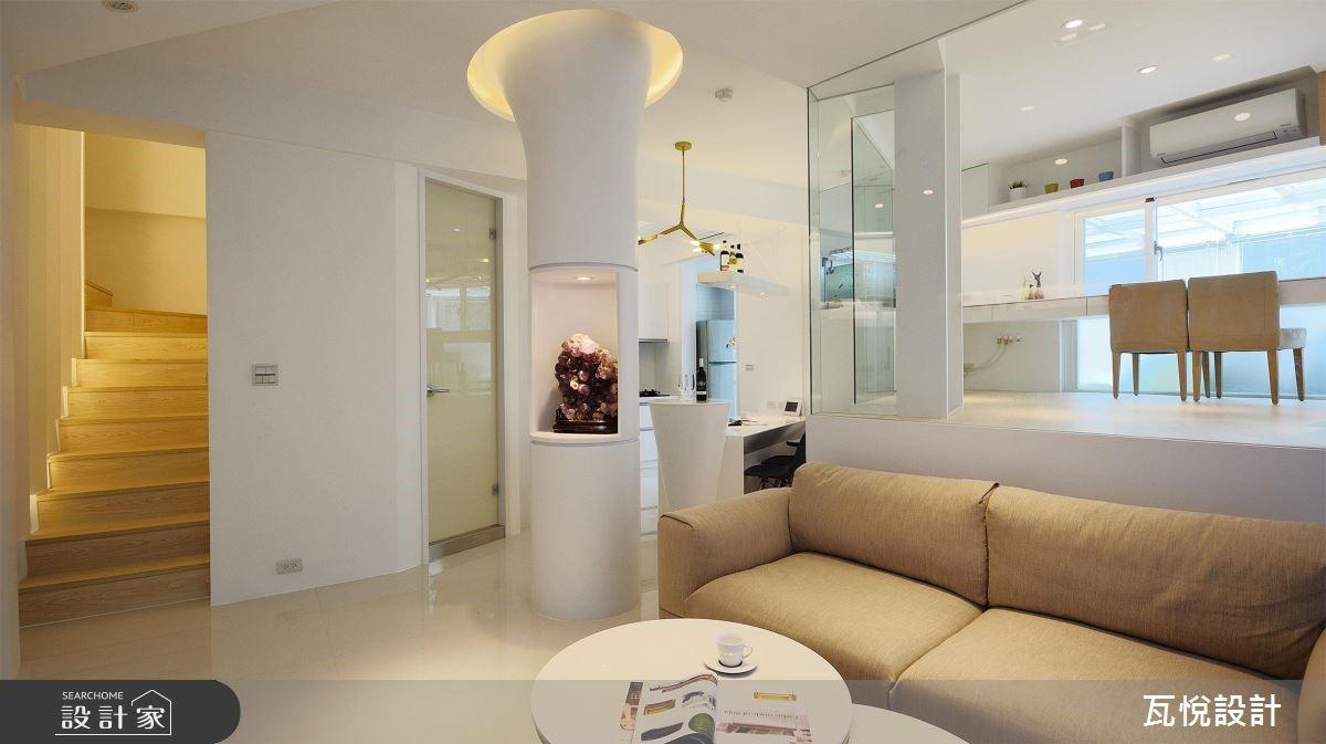 34坪老屋(16~30年)_現代風客廳樓梯案例圖片_瓦悅設計_瓦悅_45之4