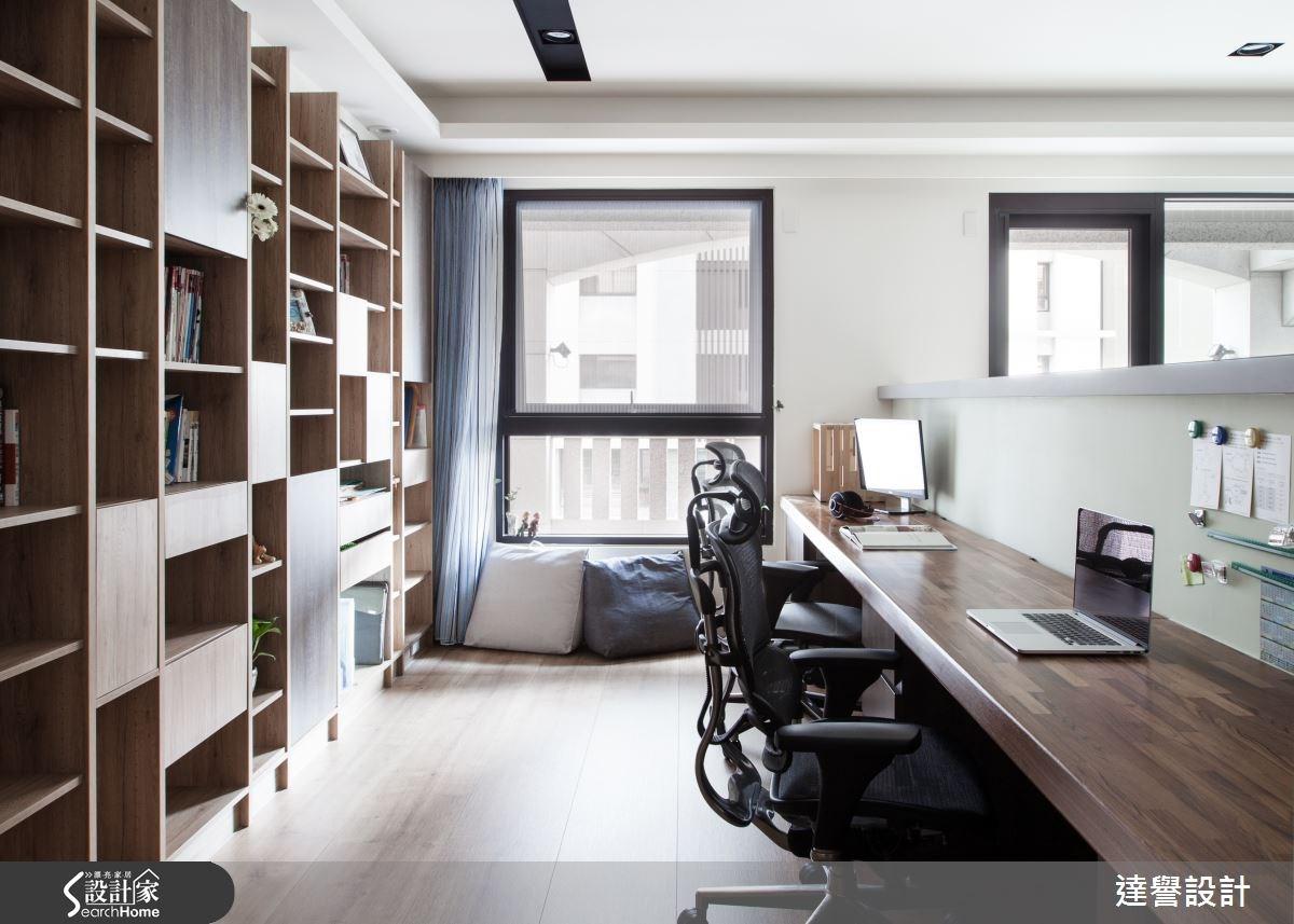 45坪新成屋(5年以下)_現代風書房案例圖片_達譽設計_達譽_18之2