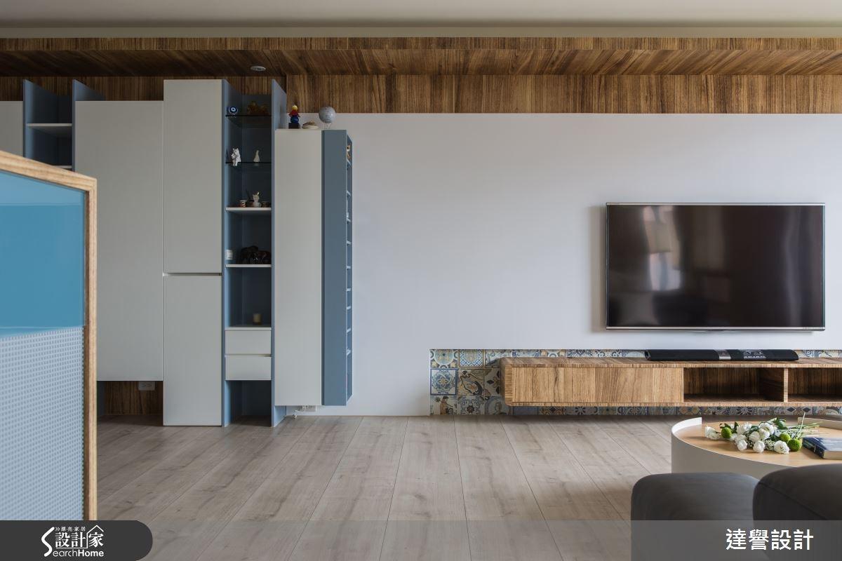 80坪新成屋(5年以下)_現代風客廳案例圖片_達譽設計_達譽_19之4