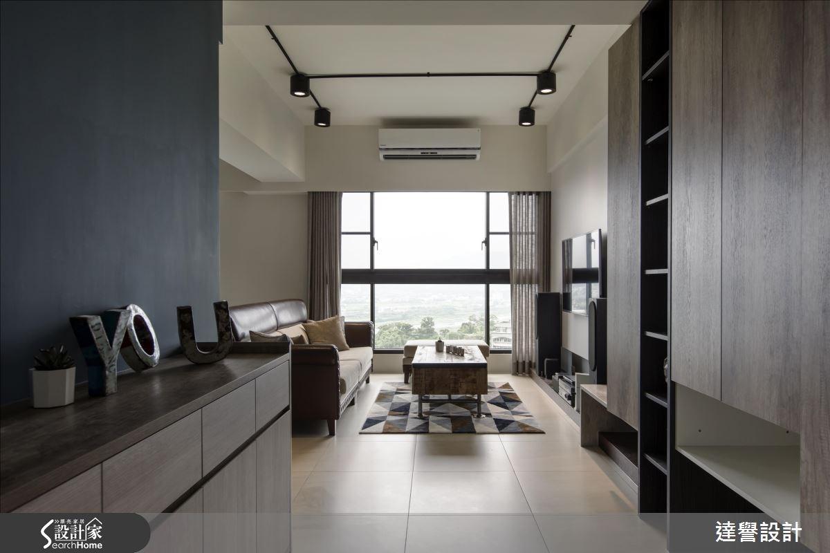 30坪新成屋(5年以下)_工業風走廊案例圖片_達譽設計_達譽_21之4