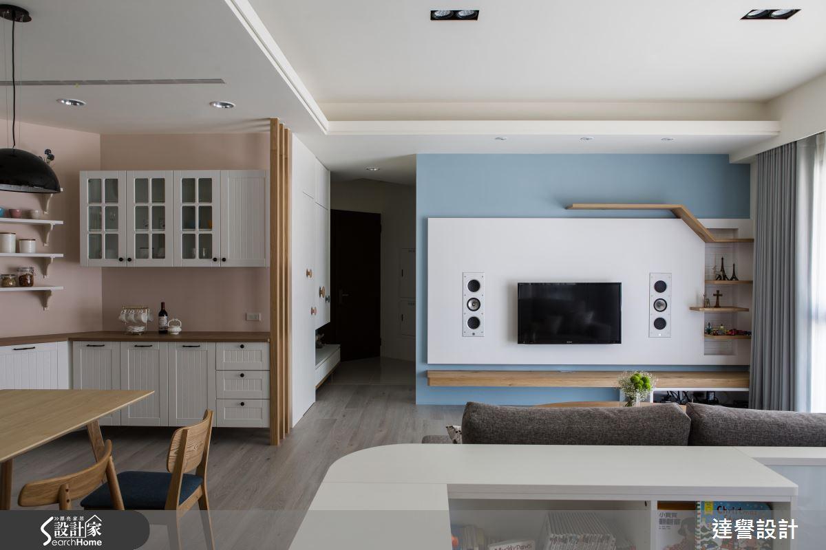 溫馨、微甜的純白比例 完美打造 4 房 2 廳北歐宅