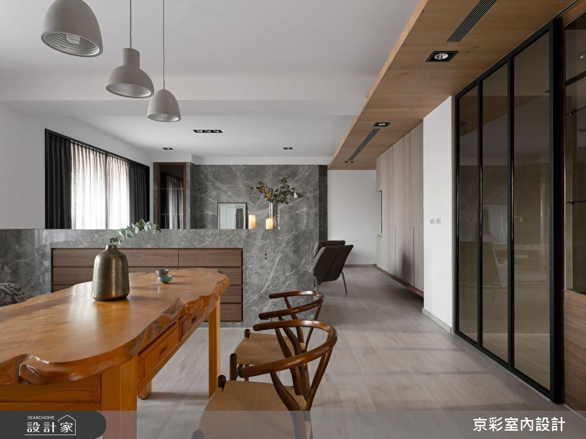 65坪新成屋(5年以下)_混搭風餐廳案例圖片_京彩室內設計有限公司_京彩_01之3