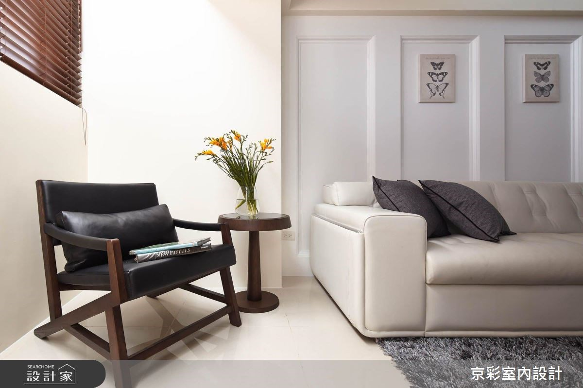 40坪老屋(16~30年)_新古典客廳案例圖片_京彩室內設計有限公司_京彩_03之3