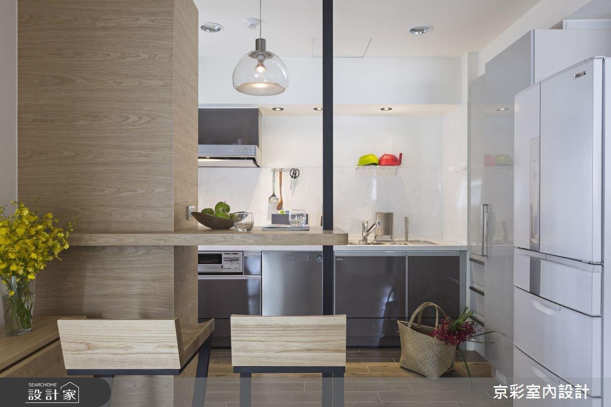 30坪中古屋(5~15年)_工業風廚房吧檯案例圖片_京彩室內設計有限公司_京彩_07之8
