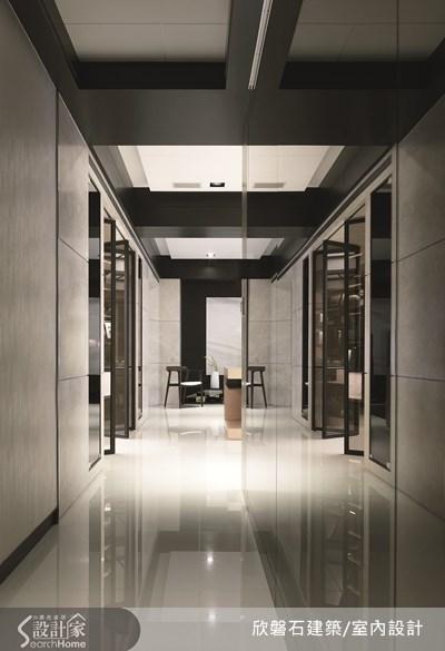 86坪新成屋(5年以下)_現代風走廊案例圖片_欣磐石建築.空間規劃事務所_欣磐石_12之1