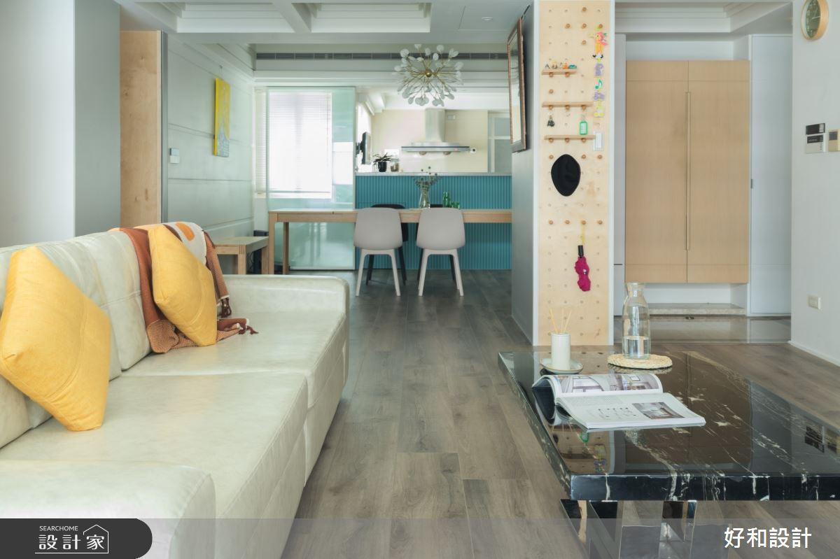 40坪老屋(31~40年)_北歐風客廳案例圖片_好和設計_好和_Eden/伊甸之2