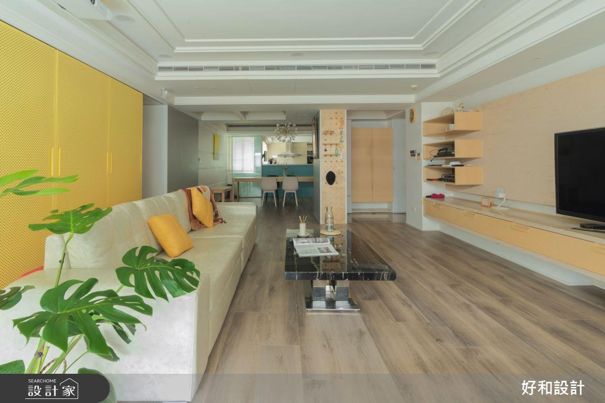 40坪老屋(31~40年)_北歐風客廳案例圖片_好和設計_好和_Eden/伊甸之4