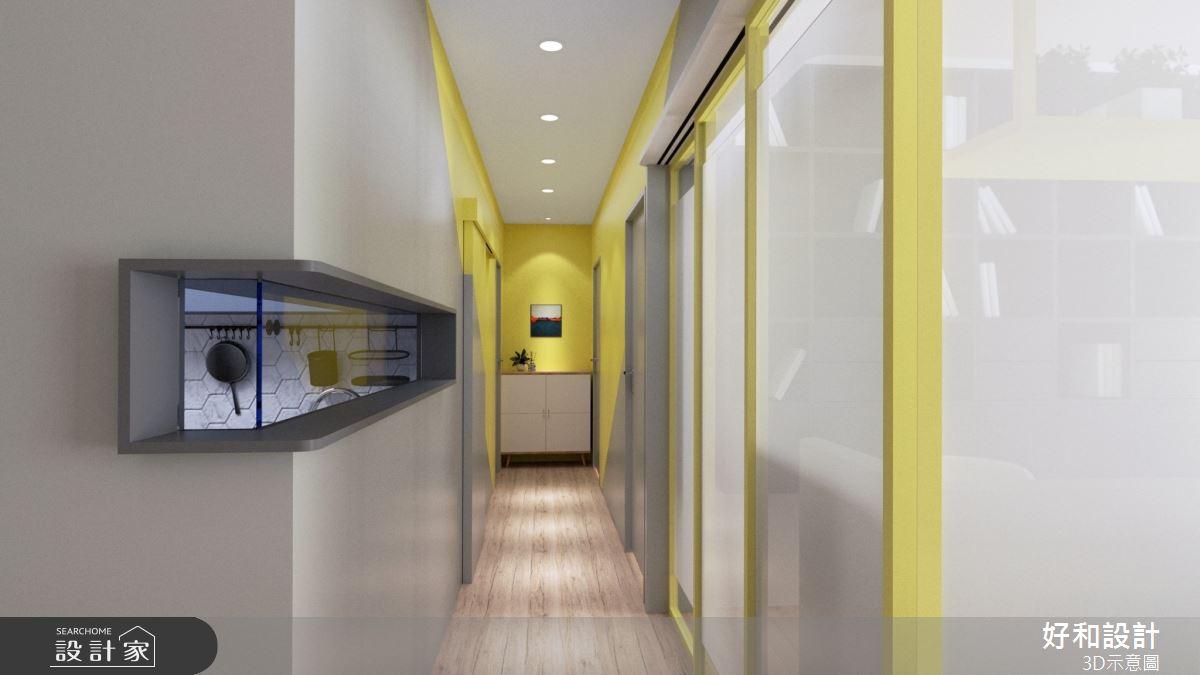30坪中古屋(5~15年)_混搭風走廊案例圖片_好和設計_好和_青春之歌之11