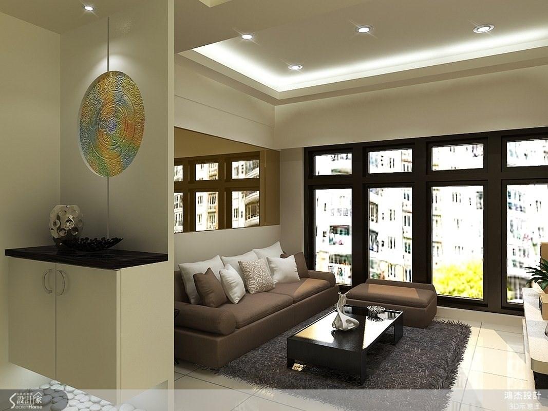 28坪新成屋(5年以下)_現代風玄關客廳案例圖片_鴻杰室內設計_鴻杰_04之2