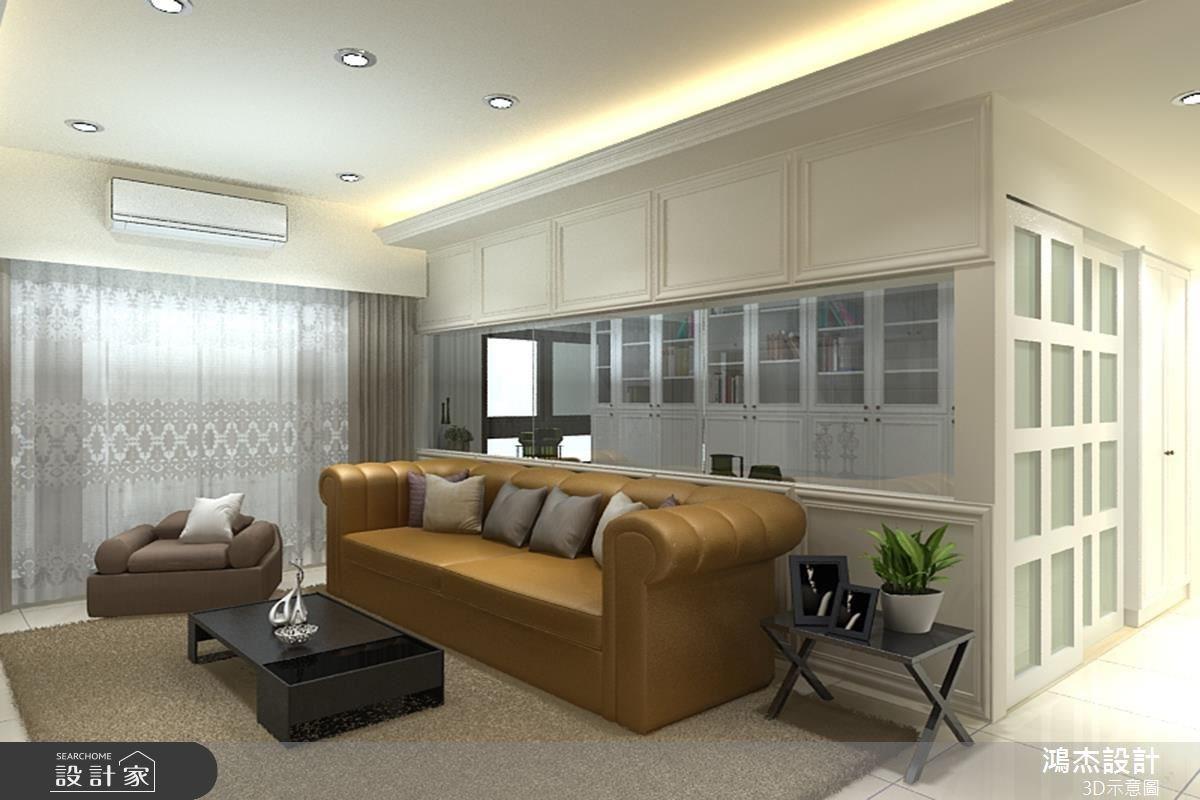33坪新成屋(5年以下)_混搭風客廳書房案例圖片_鴻杰室內設計_鴻杰_05之3