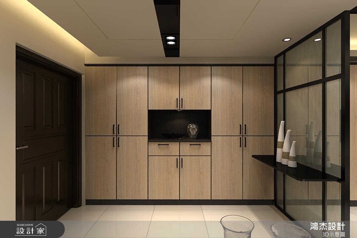48坪新成屋(5年以下)_混搭風玄關案例圖片_鴻杰室內設計_鴻杰_06之1
