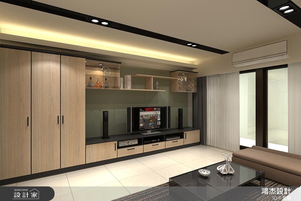 48坪新成屋(5年以下)_混搭風客廳案例圖片_鴻杰室內設計_鴻杰_06之3